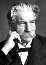 Albert Schweitzer, 1952 • Photographer unknown; from the Nobel Foundation
