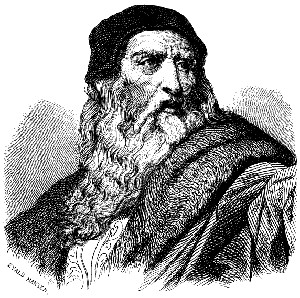 Engraving of Leonardo da Vinci by Everard Hansen