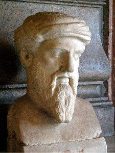 Bust of Pythagoras at the Musei Capitolini in Rome • Photo by Galilea