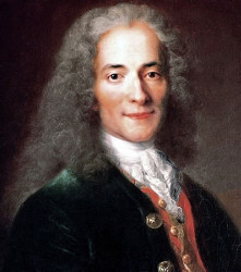 Portrait of Voltaire (née François-Marie Arouet (1694–1778)) by Nicolas de Largillière, currently in the Carnavalet Museum