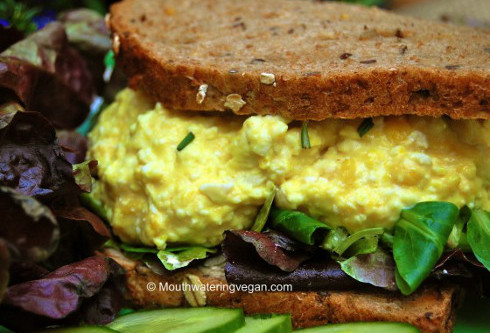 "Click here to get Miriam's recipe for ""First Proper & Best-Ever Vegan 'Egg Mayonnaise' (Egg Salad) Sandwich"""