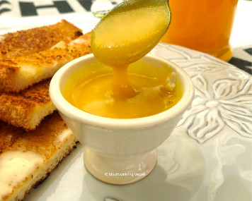 "Make a ""soft-boiled egg yolk"" for dipping your toast!"