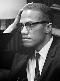 Malcolm X (1925-1965) • Photo by Marion S. Trikosco, March 26, 1964 • Public-domain image courtesy of Wikimedia Commons • https://commons.wikimedia.org