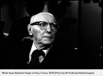 Writer Isaac Bashevis Singer in Paris, France, 1978 (Photo by Ulf Andersen/Getty Images)